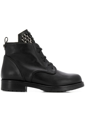 Albano studded tongue boots - Black