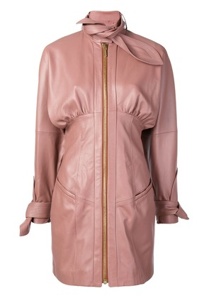 Zimmermann leather mini dress - Pink