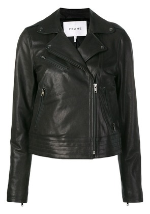 Frame Denim zipped leather jacket - Black