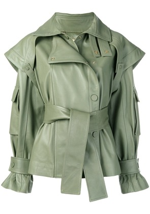 Zimmermann Tempest leather jacket - Green