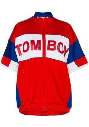 Filles A Papa Tomboy Marvin cotton-blend track jacket - Red