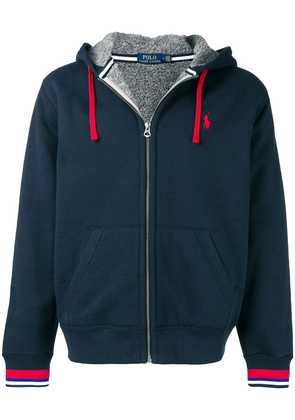 Polo Ralph Lauren stripe trim hoodie - Blue