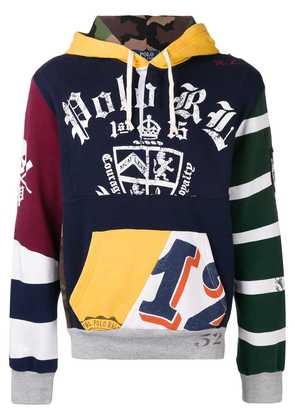 Polo Ralph Lauren Patchwork Rugby Hoodie - Yellow
