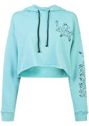 Adaptation cropped LA hoodie - Blue