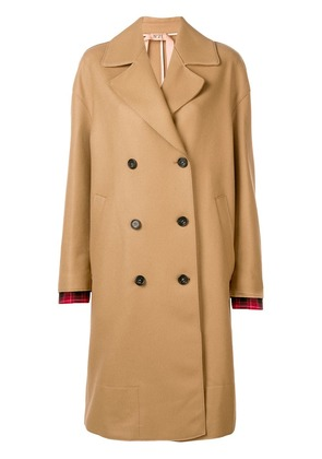 No21 double breasted coat - Neutrals