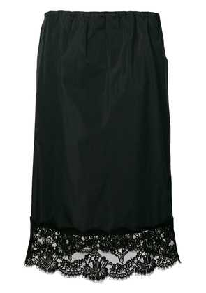 No21 lace-panelled skirt - Blue