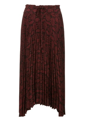 A.L.C. pleated asymmetric skirt - Red
