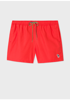 Men's Red Zebra Logo Swim Shorts