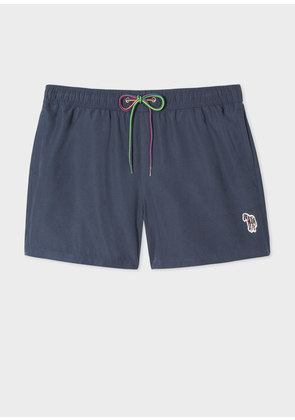 Men's Navy Zebra Logo Swim Shorts
