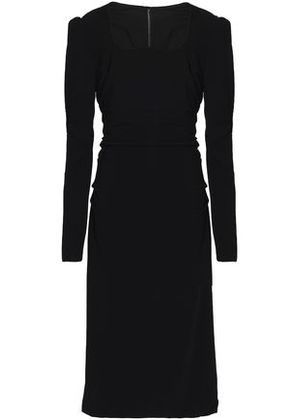 Dolce & Gabbana Woman Ruched Crepe Dress Black Size 38