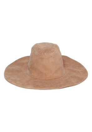 Zimmermann Woman Suede Fedora Camel Size M/L