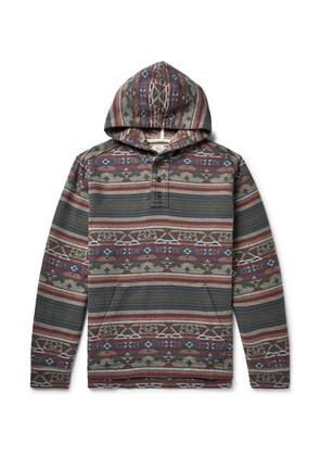 Pacific Organic Brushed Cotton-jacquard Hoodie