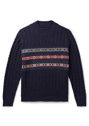 Cable-knit Fair Isle Wool-blend Sweater