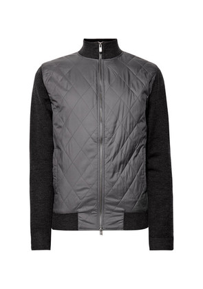 Bunbury Quilted Shell And Wool Bomber Jacket