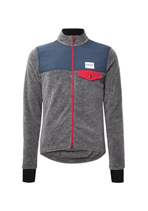 Cafe du Cycliste - Alphonsine Slim-fit Fleece Cycling Jacket - Gray
