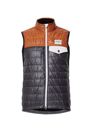 Cafe du Cycliste - Albertine Two-tone Shell And Fleece Primaloft Cycling Gilet - Navy