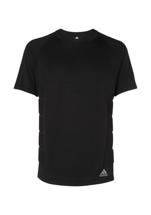 Adidas Sport - Primeknit Wool-blend T-shirt - Black