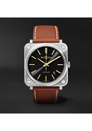 Br S-92 Golden Heritage Automatic 39mm Stainless Steel And Leather Watch