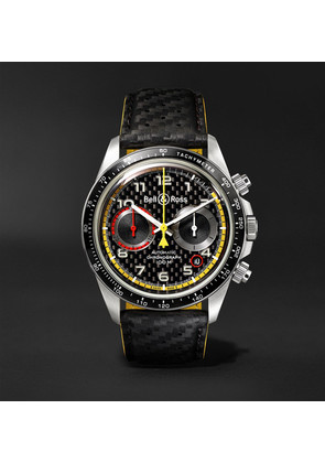 Bell & Ross - Br V2-94 R.s.18 Renault Limited Edition Chronograph 41mm Stainless Steel And Leather Watch - Black