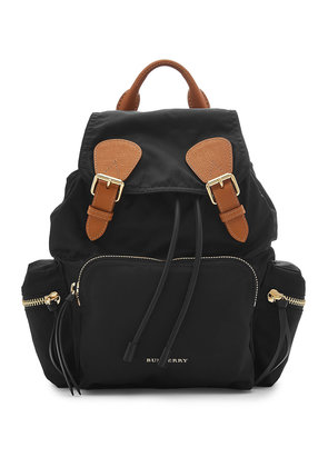 Burberry Medium Fabric Backpack with Leather