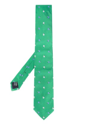 Fefè flower embroidered tie - Green