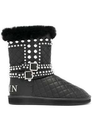 Philipp Plein studded quilted boots - Black