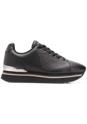 Emporio Armani lace-up sneakers - Black
