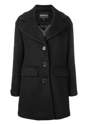 Emporio Armani loose fitted coat - Black