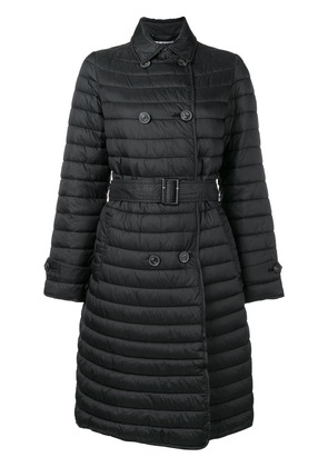Emporio Armani loose flared coat - Black