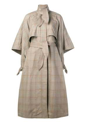 Zimmermann Unbridled cape tie trench coat - Brown