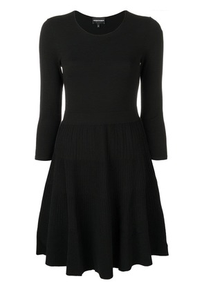 Emporio Armani flared fitted dress - Black