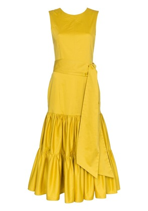 Cult Gaia Maeve sleeveless tiered dress - Yellow
