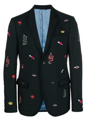 Gucci embroidered blazer - Black