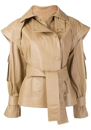 Zimmermann Tempest leather jacket - Brown