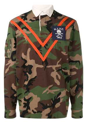 Polo Ralph Lauren panelled camouflage polo shirt - Green