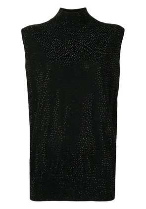 Emporio Armani crystal studded blouse - Black