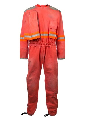 Calvin Klein 205W39nyc distressed fireman jumpsuit - Orange