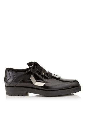 ROCCO Black Shiny Calf Lace Up Shoes