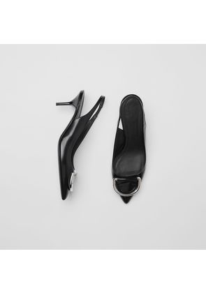 Burberry The Patent Leather D-ring Slingback Pump, Black