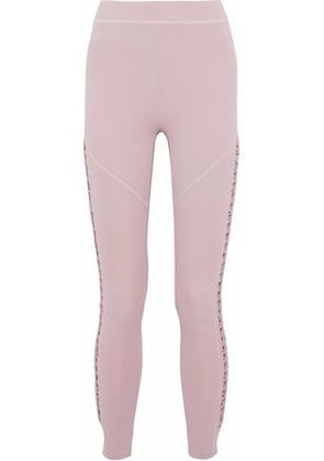 Cushnie Et Ochs Woman Cropped Lace-up Stretch Leggings Lilac Size XS