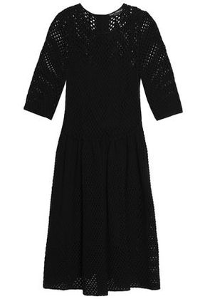 Dolce & Gabbana Woman Open-knit Cotton Dress Black Size 38
