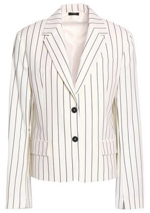 Jil Sander Woman Pinstriped Wool-blend Twill Blazer Ivory Size 36