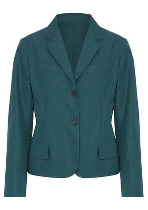 Jil Sander Woman Cotton-poplin Blazer Teal Size 36