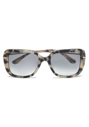 Roland Mouret Woman Square-frame Tortoiseshell Acetate And Gold-tone Sunglasses Taupe Size -