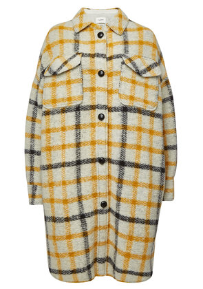 Isabel Marant toile Gario Checked Coat with Wool