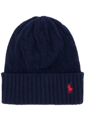 Polo Ralph Lauren cable knit beanie - Blue