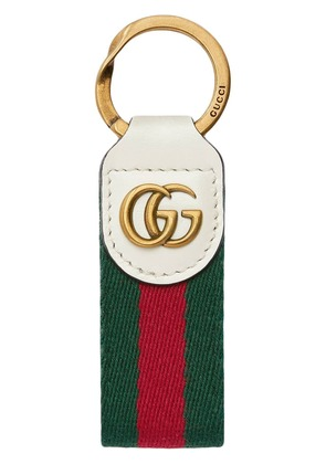 Gucci Key chain with Double G - White