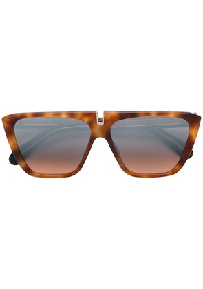 Givenchy Eyewear square tinted sunglasses - Brown