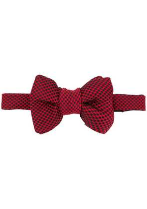 Tom Ford patterned bow tie - Red