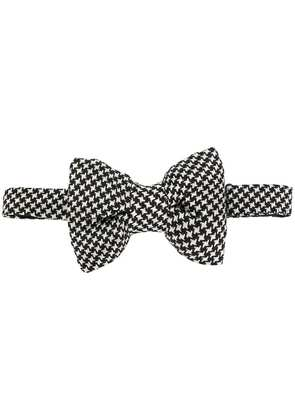 Tom Ford patterned bow tie - Black